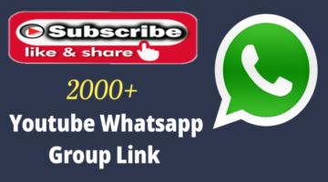 2000+ Best Youtube Whatsapp Group Link 2021 – Active Sub4Sub