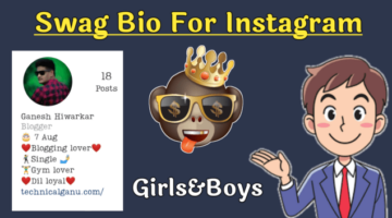 1200+Swag Bio For Instagram With Emoji For Girls And Boys