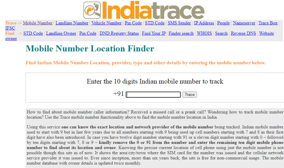 Mobile Number Location Track Tips And Tricks