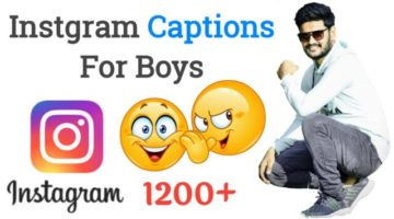 1200+ Best Instagram Captions For Boys – Attitude & Cool 2021